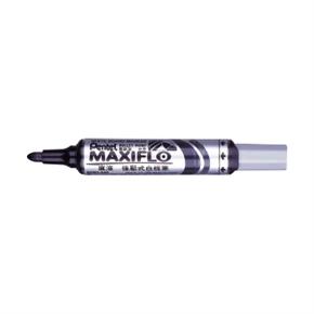 Pentel MWL5M-A-粗字圓頭型後壓式白板筆(黑)