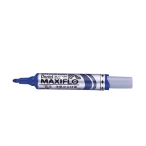 Pentel MWL5M-C-粗字圓頭型後壓式白板筆(藍)