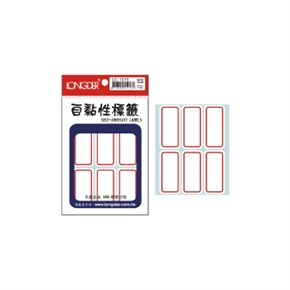 龍德 LD-1015 自黏性標籤 紅框