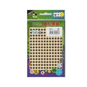鶴屋051E 5mm圓型標籤 棕