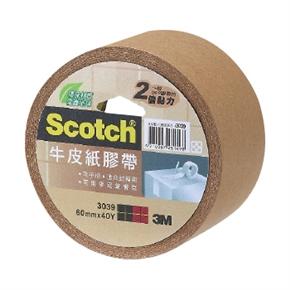 3M Scotch 3039環保牛皮紙膠帶60mm*40Y