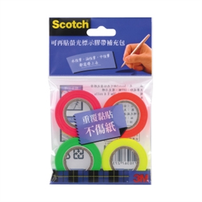 3M Scotch 812R4-標示膠帶補充包(四色)