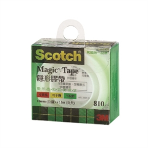 3M Scotch 810LM隱形膠帶(塑盒)