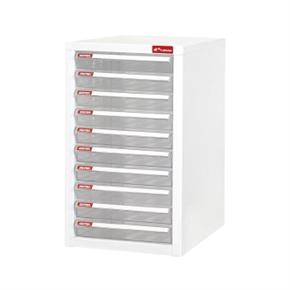 樹德 A4-110P 桌上型資料櫃 白櫃 透明抽