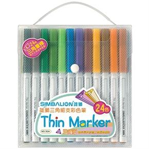 雄獅 3024 三角細支彩色筆 24色組