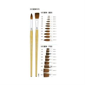 Pentel 飛龍 ZBS2-6號平頭水彩筆