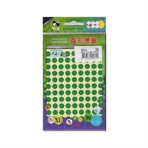 鶴屋 082D 圓型螢光標籤 綠