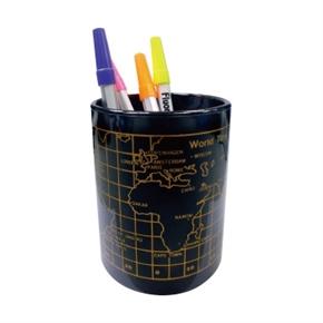 LIFE徠福 NO.2341 鐵製地圖筆筒