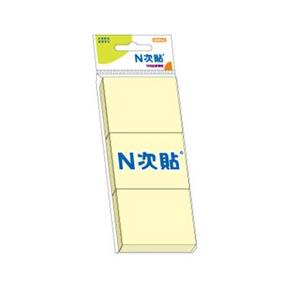 鶴屋 61102 11127 3入N次貼便條黃色