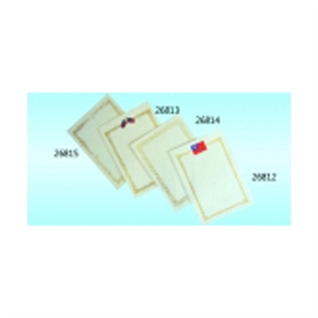 26812 A4獎狀直式(單國旗)