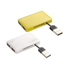 E-books T18 多合一讀卡機+三孔USB集線器