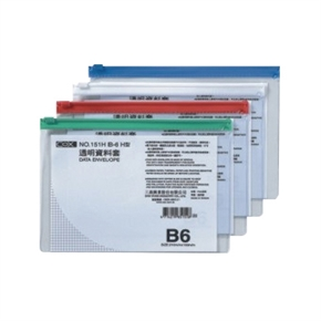 COX三燕 151H橫式B6透明資料袋