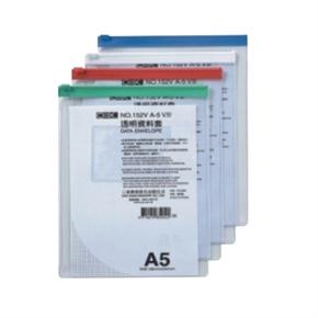COX三燕 152V直式A5透明資料袋