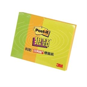 3M Post-it 623S-1狠黏便條紙(黃.綠.橘)