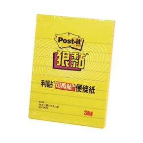 3M-Post-it-643S-3狠黏橫格便條紙3*4(黃)