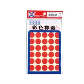 華麗WL-2031R 彩色圓形標籤 紅