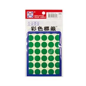 華麗WL-2031G 彩色圓形標籤 綠