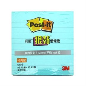 3M Post-it 640S利貼狠黏橫式可再貼便條紙 草藍
