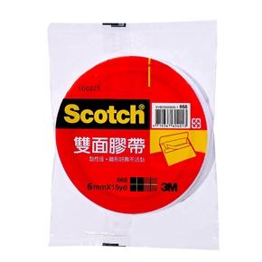 3M Scotch 668雙面膠帶6mm*15Y