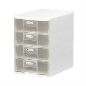 樹德 PC1104 PC04 四層玲瓏盒 白