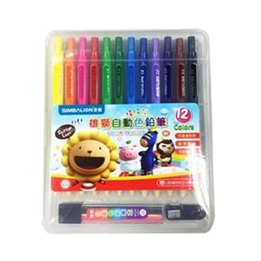 雄獅 自動色鉛筆 12色 (內含色芯+筆削)