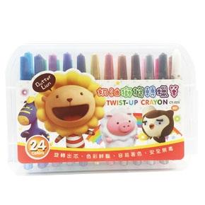 CY-003 奶油獅旋轉蠟筆24色