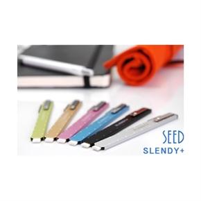 SEED EH-S-O 超薄鐵殼型橡皮擦(橘色)