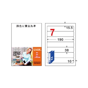 龍德LD-887-W-C A4三用電腦標籤  白