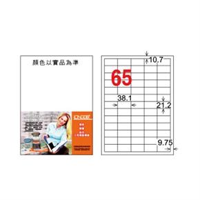 龍德LD-806-W-C A4三用電腦標籤 白