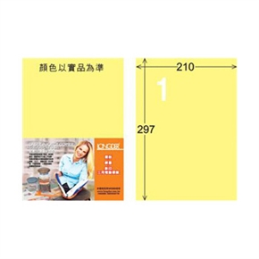 龍德LD-800-Y-C A4三用電腦標籤  淺黃