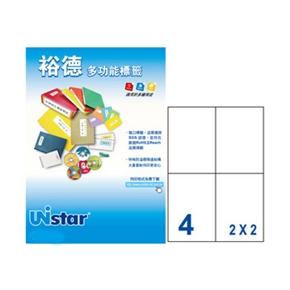裕德US4676-20 U50多功能標籤 白
