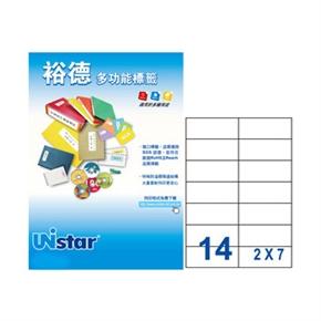 裕德US4674-20 U18多功能標籤 白