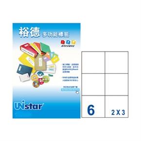 裕德UH99105-20 U61多功能標籤 白