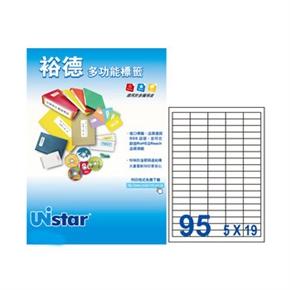 裕德UH1437-20 U66多功能標籤 白