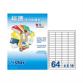 裕德US4271-20 U36多功能標籤 白