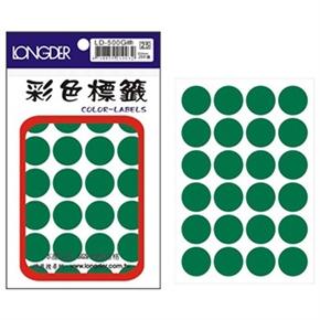 龍德 LD-500-G 圓型標籤 綠