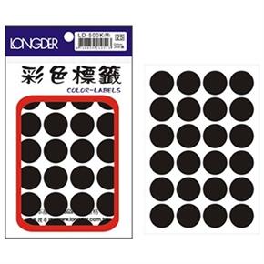 龍德 LD-500-K 圓型標籤 黑色