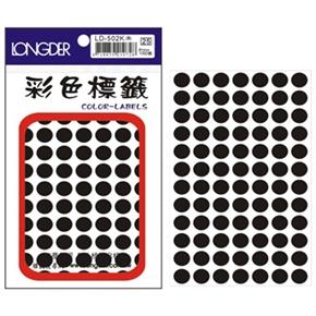 龍德 LD-502-K 圓型標籤 黑色