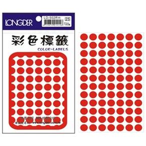 龍德 LD-502-R 圓型標籤 紅