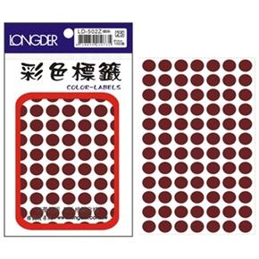 龍德 LD-502-Z 圓型標籤 咖啡色