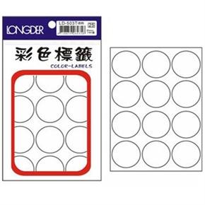 龍德 LD-503-T 圓型標籤 透明