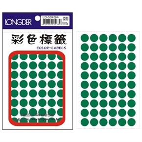 龍德 LD-504-G 圓型標籤 綠