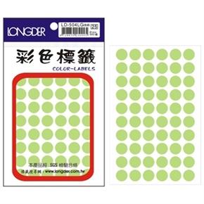 龍德 LD-504-LG 圓型標籤 淺綠