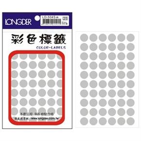 龍德 LD-504-S 圓型標籤 銀