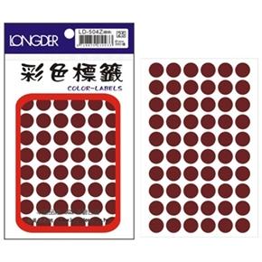 龍德 LD-504-Z 圓型標籤 咖啡色