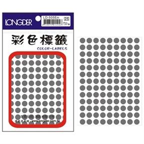 龍德 LD-505-E 圓型標籤 灰色