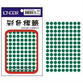 龍德 LD-505-G 圓型標籤 綠