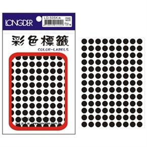 龍德 LD-505-K 圓型標籤 黑色