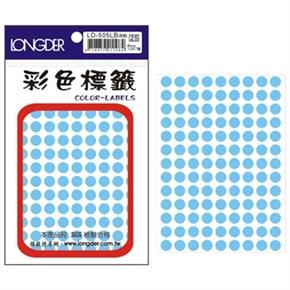 龍德 LD-505-LB 圓型標籤 淺藍色