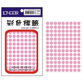 龍德 LD-505-LP 圓型標籤 粉紅